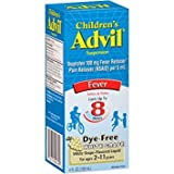 Advil Children's Fever Reducer/Pain Reliever Dye-Free, 100mg Ibuprofen (White Grape Flavor Oral Suspension, 4 fl. oz. Bottle) - Pack of 5