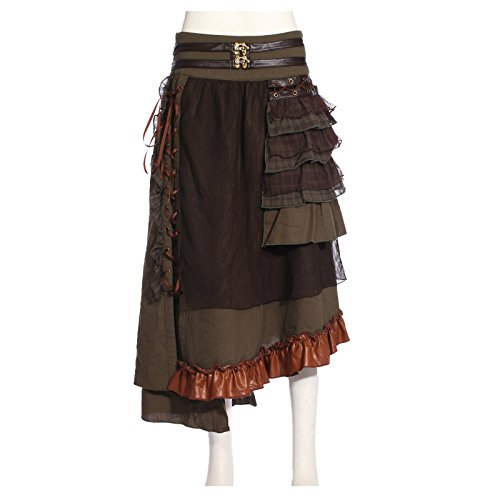 Women's Layered Steampunk Costume Skirt (Western Saloon Costume Ideas)