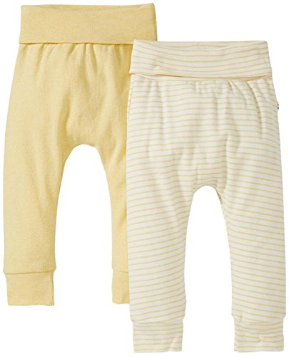 Giggle Pull-On Pant Set Of 2, Yellow Heather, 3-6 Months