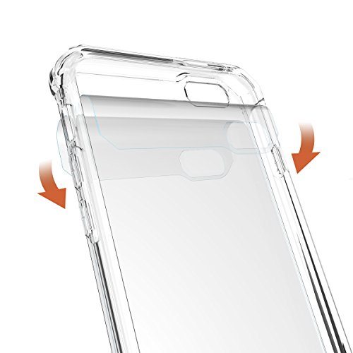 "iPhone 6s Plus Hülle, HICASER PC + TPU Hybrid Bumper Case Schutzhülle Crystal Transparent kratzfeste Tasche für iPhone 6 Plus / 6S Plus 5.5"" Klar"
