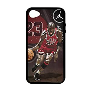 [Accessory] iPhone 4 Case, [Michael Jordan] iPhone 4,4s Case Custom Durable Case Cover for iPhone4s TPU case (Laser Technology) by mcsharks