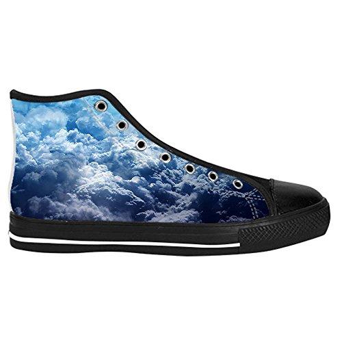 Dalliy Blaue Wolken Mens Canvas shoes Schuhe Lace-up High-top Sneakers Segeltuchschuhe Leinwand-Schuh-Turnschuhe B