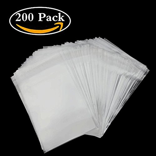 Clear Cello Cellophane Bags 4x6 Self Sealing - 3.2 mils Thick OPP Plastic Bags for Bakery, Candle, Soap, Cookie (4