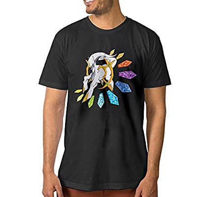 Texhood Men?€?s Poke Arceus Go Black T-SHIRT SizeMO-Neck