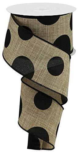 Large Polka Dot Wired Edge Ribbon - 2.5
