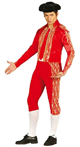 Mens Red Bull Fighter Spanish Matador Fancy Dress Costume Outfit Size Large (Large)]()