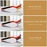 Wire Brush Set, 6 Pcs Brass/Stainless Steel/Nylon
