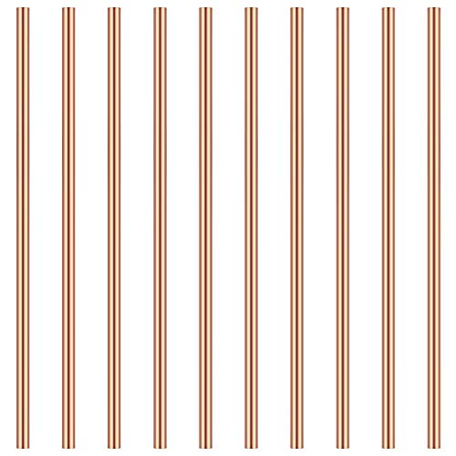 3mm Copper Round Rod, Favordrory 10PCS Copper Round Rods Lathe Bar Stock, 3mm in Diameter 100mm in Length