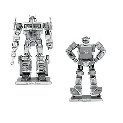 Metal Earth Fascinations Transformers Optimus Prime And Transformers Bumblebee Puzzle In Metallo 3d Giocattoli Da Costruzione Modelli Di Taglio Laser