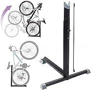 Bike Stand,Vertical Bike Rack Upright Bicycle Floor Stand Free Standing Adjustable Bike Garage Rack for Indoor