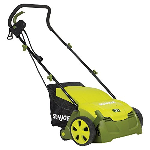 Sun-Joe-13-in-12-amp-Electric-Scarifier-and-Lawn-Dethatcher-with-Collection-Bag