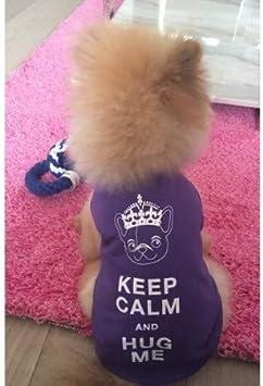 Little Princess XXL 16 Length Pet London Slogan Cotton Dog T-Shirt 40cm
