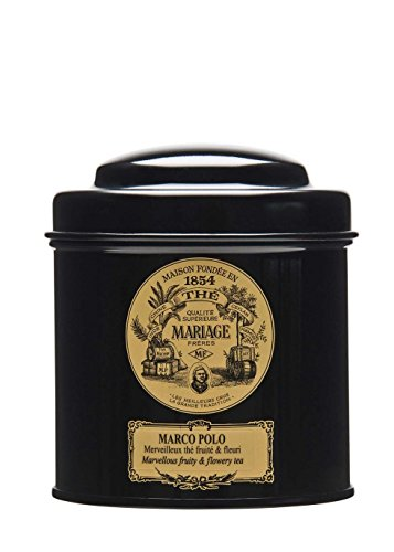 MARIAGE FRERES. Marco Polo Tea, 100g Loose Tea, in a Tin Caddy (1 Pack) Seller Product Id MR24LS - USA Stock - Loose Tea Caddy