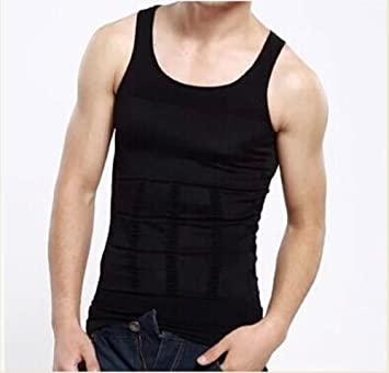 7e433a8986ca9 Men Body Slimming Tummy Shaper Belly Underwear shapewear Waist Girdle Shirt  Vest (Black