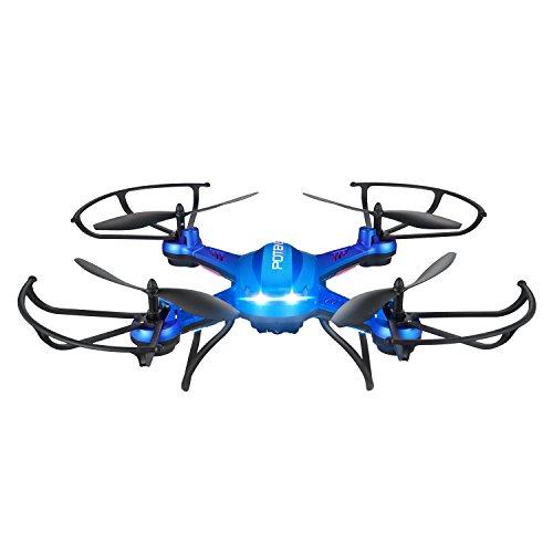 Drone with Camera, Potensic F181DH 5.8GHz RC Drone Quadcopter With 720P HD Live Camera RTF Altitude Hold UFO & Newest Hover Function(Blue)