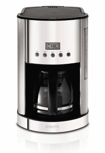 KRUPS KM730D Breakfast Set Coffee Maker Machine with Brushed and Chrome Stainless Steel Housing, 12-Cup, Silver - Krups Coffee Filter Basket