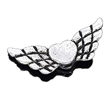 10 Engel Metallanhänger silber 22 mm Kettenanhänger mit Flügel Kette basteln