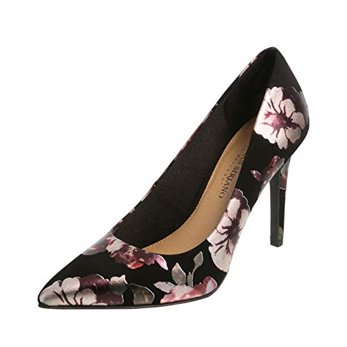 Christian Siriano for Payless Shimmer Black Floral Women's Habit Pointed Pump 8 ()