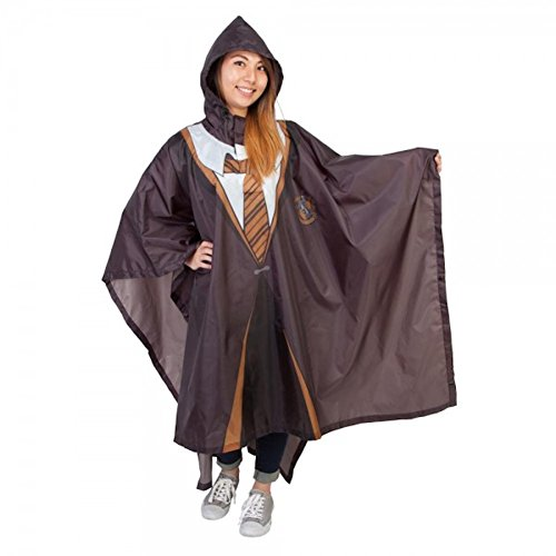 Harry Potter House Hufflepuff Robe Rain Poncho (Hufflepuff Robes)