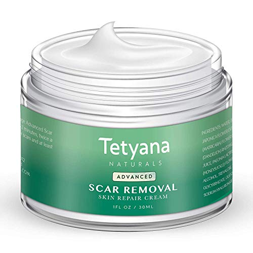 Scar Removal Cream Advanced Treatment for Face & Body Old & New Scars from Cuts Stretch Marks, C-Sections & Surgeries With Natural Herbal Extracts Formula