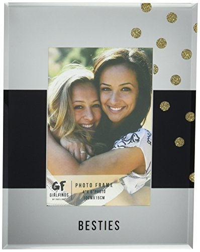 Pavilion Gift Company 75101 Besties Mirrored Photo Frame, 7 x 9