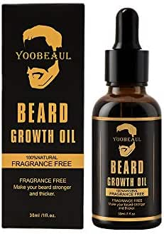 Beard Growth Oil (Grow Your Beard Fast) All Natural Beard Oil - Beard Growth Serum Refill - Stimulate Beard and Hair Growth