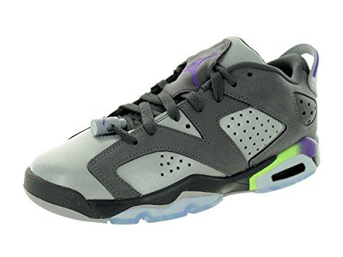 Nike Air Jordan 6 Retro Low Gg, Zapatillas de Running para Niñas Gris / Morado (Drk Gry / Ultrvlt-Wlf Gry-Ghst G)