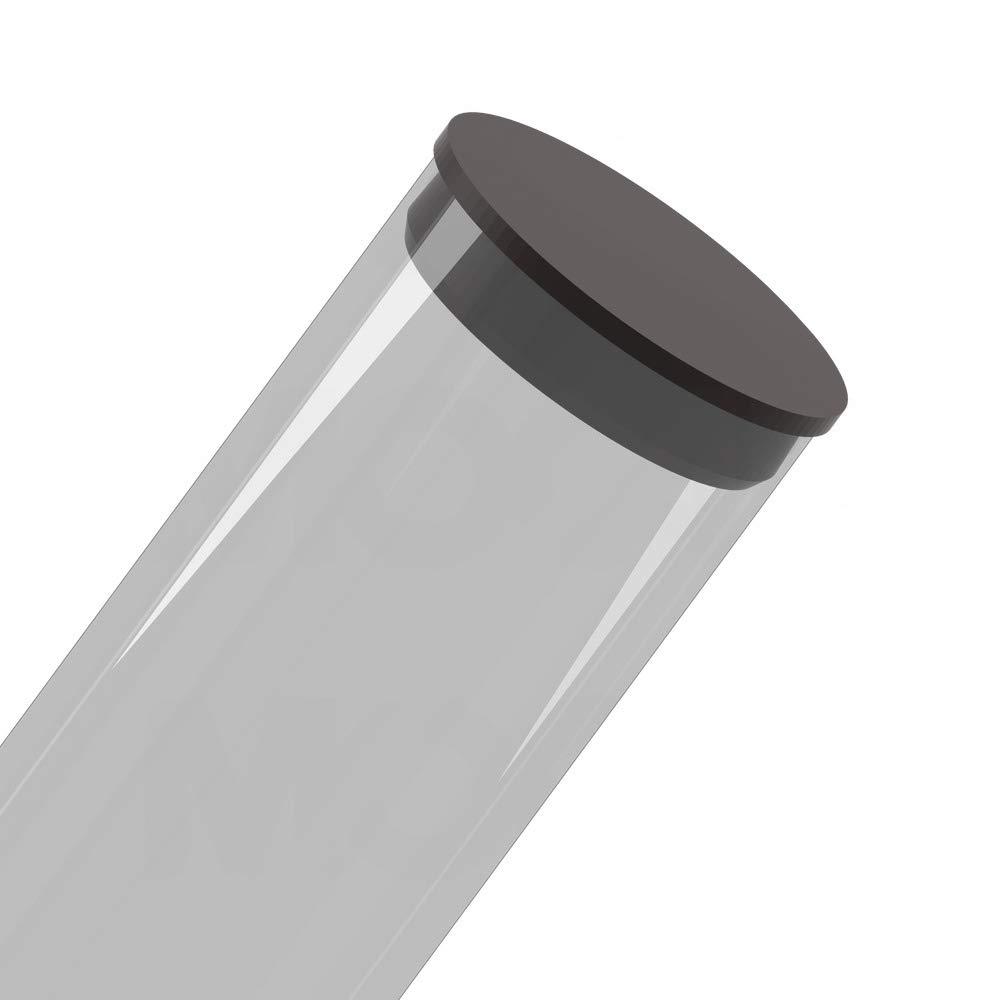qty25 Round Polypropylene Plugs 2-3//4 Poly Plug Black MOCAP PRP2.750BLK
