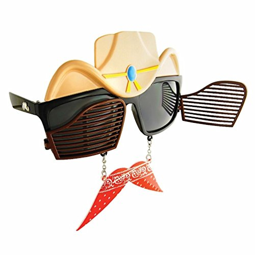 Toucan Hat Costume (Sun-Staches Western Cowboy Swinging Doors Glasses Sunglasses Costume Accessory)