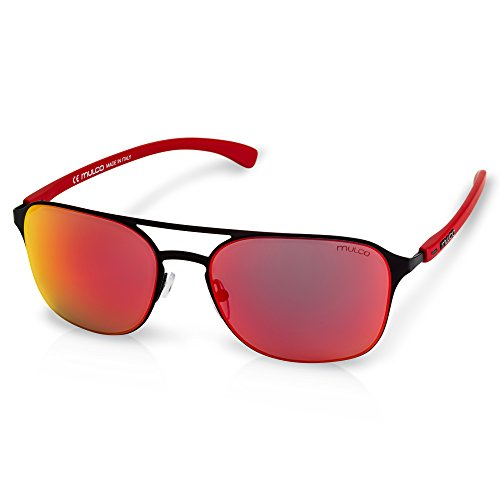Mulco Illusion HM Black Frame / Red Lens 50 mm - Sunglasses Hm
