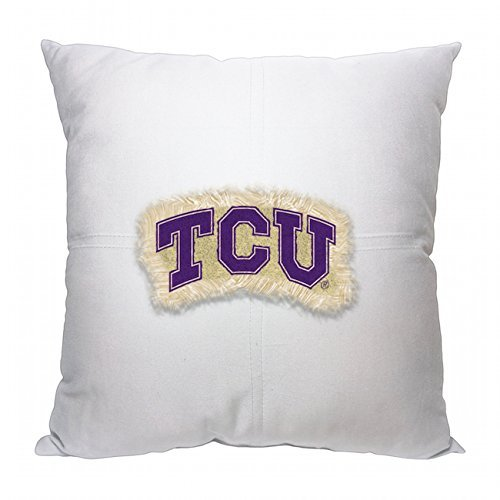 Northwest NOR-1COL142000089RET 18'' x 18'' Texas Christian Horned Frogs NCAA Team Letterman Pillow by Northwest