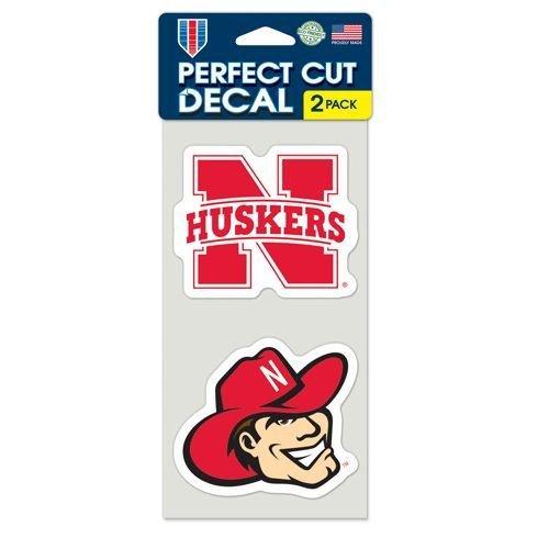 Huskers Decal - Nebraska Huskers Set of 2 Die Cut Decals