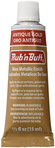 AMACO Rub 'n Buff Wax Metallic Finish, Antique Gold, 0.5-Fluid Ounce from AMACO