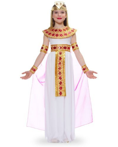 Pink Cleopatra Egyptian Queen Kids Costume (Dog Halloween Costume Contest)