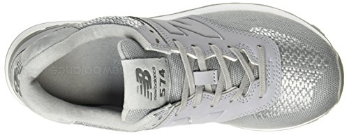 Women's 574 Sneakers Silver Synthetic Balance Grey Women's New wTfZzqn