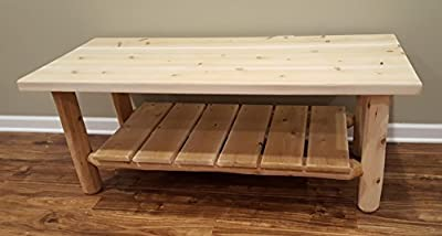 Midwest Log Furniture - White Cedar Log Coffee Table
