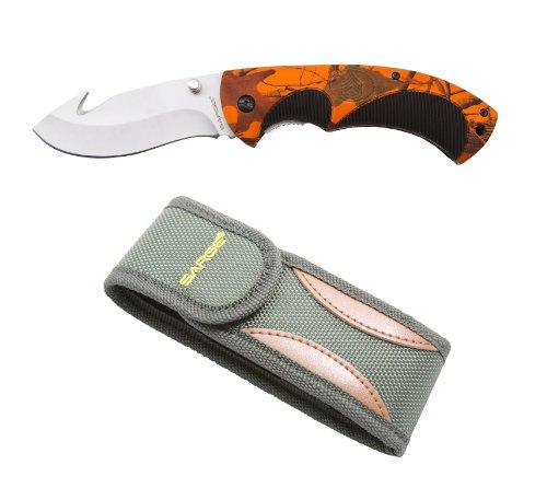 Sarge-Knives-SK-909HV-Hi-Vis-Folding-Gut-Hook-Knife-with-3-12-Inch-Stainless-Blade-Bead-Blast-Finish