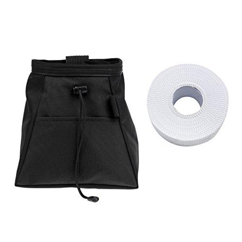Sharplace Bolsa para Tiza Magnesio Presa de Escalada Color Negro + Cinta de Dedo Color Blanco: Amazon.es: Deportes y aire libre