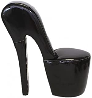 Casa Padrino High Heel Black Patent Armchair Luxury Design   Designer  Armchairs   Furniture Club