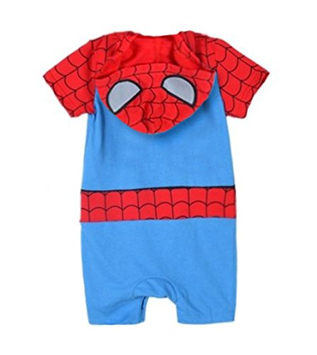 StylesILove Infant Toddler Spiderman Short Sleeve Photo Prop Hoodie Baby Boy Romper