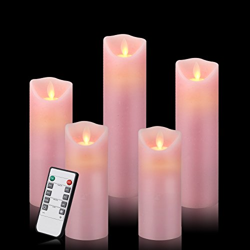 Pink Led Candle Lights