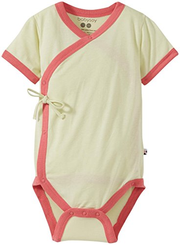 Babysoy Baby Girls' Kimono Bodysuit (Baby) - Tea - 3-6 Months