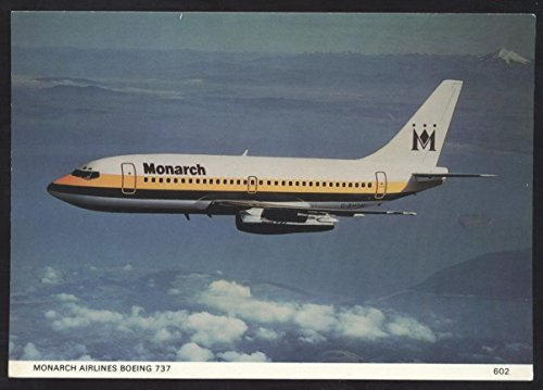 Monarch Airlines Boeing 737 Passenger Jet Skilton Airplane Continental Postcard
