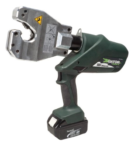 Greenlee EK06ATCL12 Gator Battery-Powered Quad-Point Insulated Dieless Crimping Tool with 12-Volt Charger