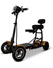 Fold and Travel Lightweight Mobility Scooters for Adults Foldable Lightweight Powered Scooter 4 Wheel Mobility Scooter Carrier Power Wheel Chairs Mobility Chair Scooter de Movilidad