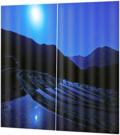 QinKingstore トップブラックアウトカーテンパネルウィンドウスクリーニングウィンドウドレープ170 * 200センチエレガントなリビングルームの寝室の装飾カーテン