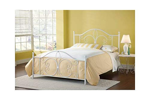 Hillsdale Furniture Panel Bed in Textured White (Full: 54 in. L x 49.75 in. H (30.2 lbs.)) (Furniture Lis De Fleur Hillsdale)