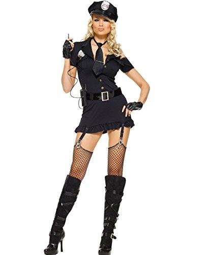 Leg Avenue 83344 Dirty Cop Sexy Adult Costume - X-Small - Black -