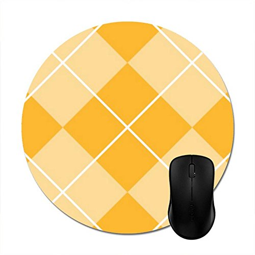 Starings Mouse Pads Pale Orange Sherbet Argyle Mouse Mat