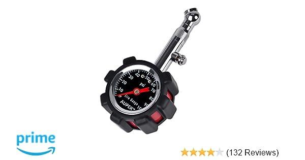 5a4c01f20c0 Amazon.com  AUPER High Accuracy Tire Pressure Gauge Black 100 psi   Automotive